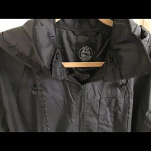 UO Riki Hooded Longline Windbreaker Jacket